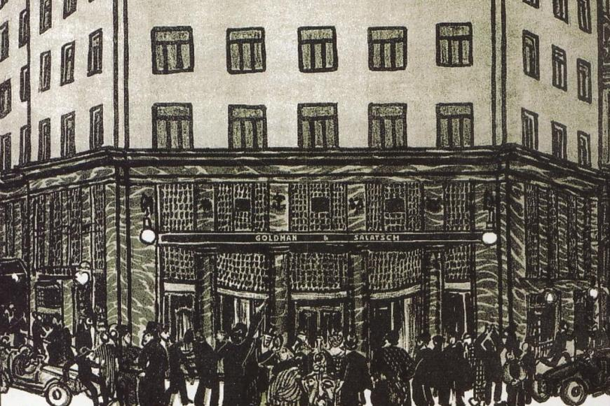 Adolf Loos, Vortragsplakat - Detail