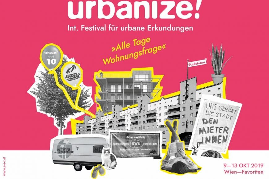 """urbanize!"" Festivalplakat Photo: eSeL.at/s-e-r-at"