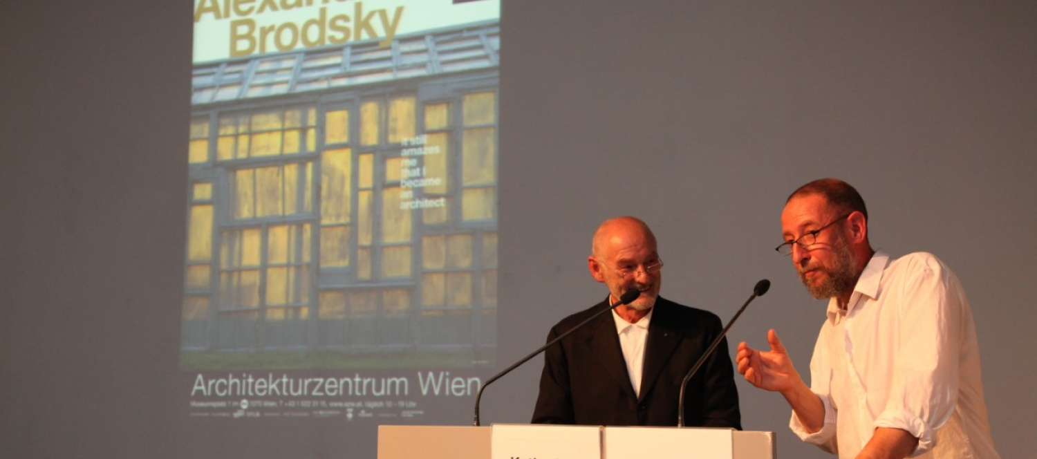 "Eröffnung ""alexander brodsky. it still amazes me that i became an architect"" 2011 © eSeL.at"