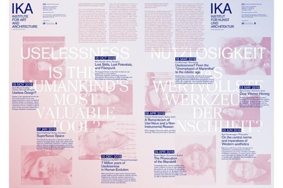 IKA Lecture Series Useless, Posterdesign: grafisches büro
